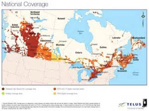 cell phone coverage map canada coverage maps