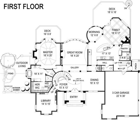 luxury 5 bedroom house plan 13438by 1st floor master 37 best 0x castle floor plans images on pinterest