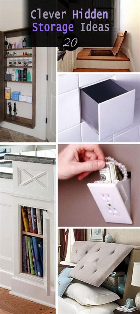 hidden storage ideas 20 clever hidden storage ideas veryhom