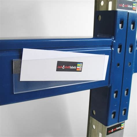 plastic magnetic label holders 52mm x 200mm rack shelf