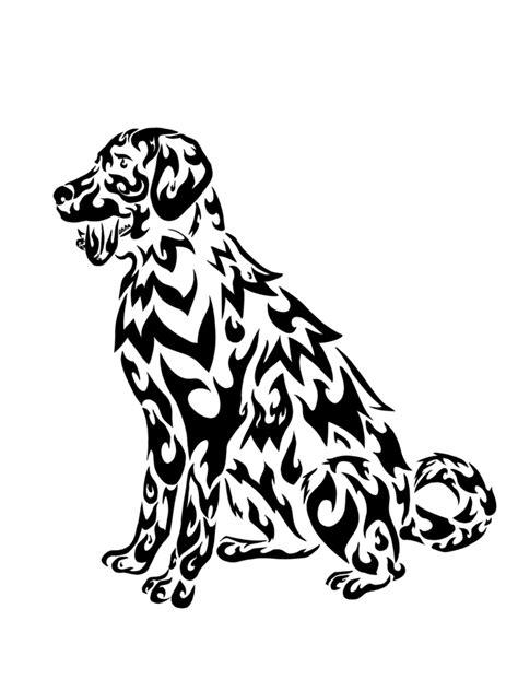 tribal dog labrador by ryoukotakihama on deviantart