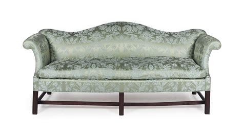 damask sofa an english oak and green blue silk damask upholstered sofa