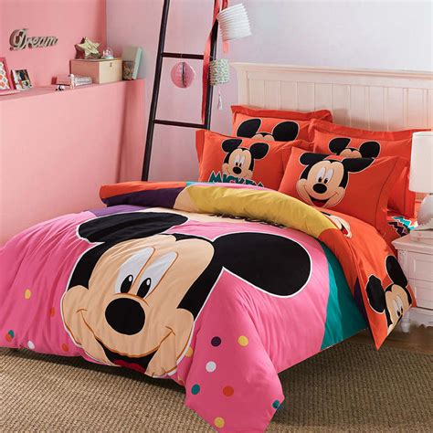 mickey mouse comforter sanding cotton queen king mickey mouse comforter bedding