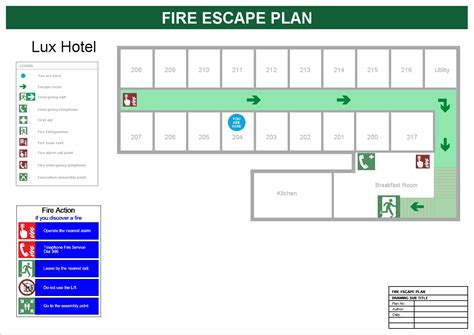 fire escape floor plan site map