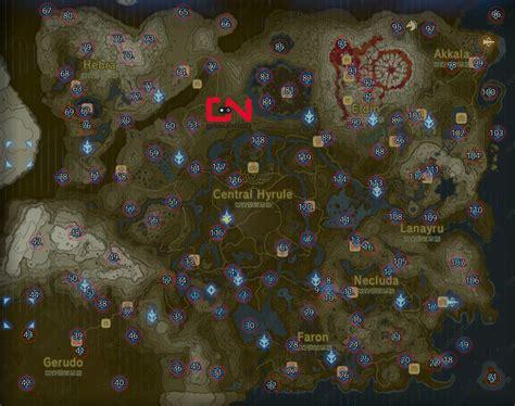 legend of zelda map location zelda map of shrine locations