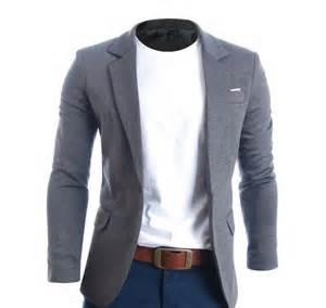 Bj 0958 White Collar Slim Dress flatseven mens slim fit casual premium blazer jacket