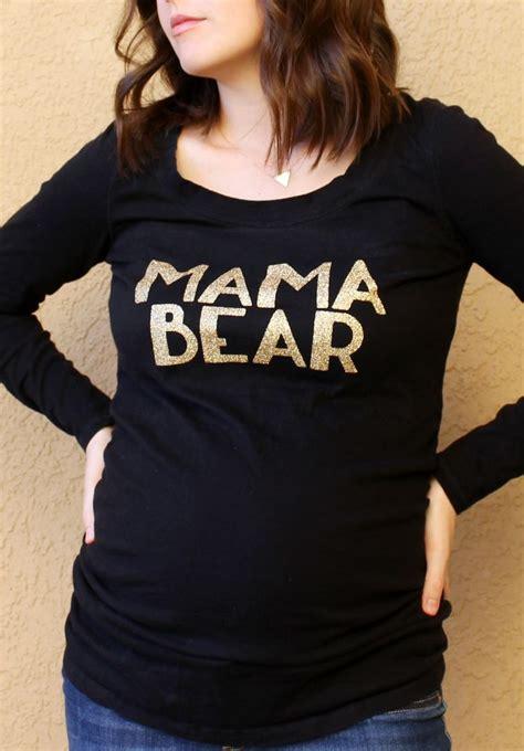 diy mama bear shirt  cricut glitter iron  vinyl