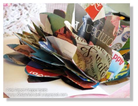 Pop Up Card Flowery Big 3 d pop up recycled magazine flowers artisticdivasworld