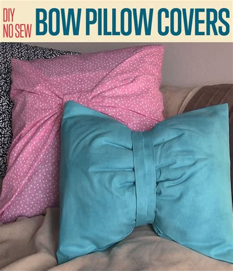 Diy No Sew Cover by Diy No Sew Bow Pillow Covers Two Ways Diy Projects Craft