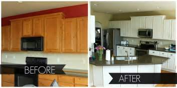 Paint Kitchen Cabinets Before And After Painted White Kitchen Cabinets Before And After