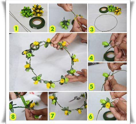 Flower Rubiah mpik s cara membuat flower crown