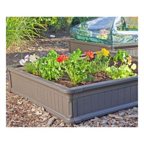 vinyl raised garden beds lifetime raised garden bed kit 2 beds 1 vinyl enclosure