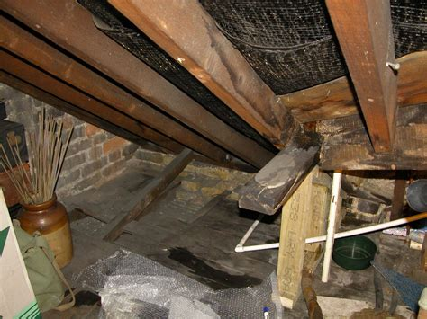 Roof leak in a Victorian Terrace house in Clapham
