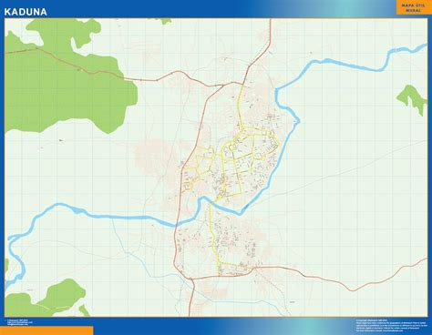 kaduna map our wall maps for nigeria wall maps mapmakers offers