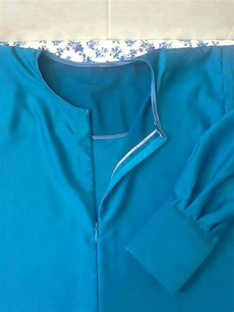 Plastik Baju Zipper 1 jahit zip sorok di baju kurung nursing tudung dan telekung nursing and baju kurung