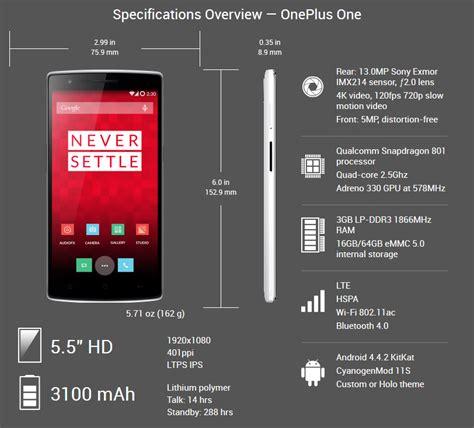 Dan Spesifikasi Handphone Oneplus review spesifikasi dan harga oneplus one terbaru pusatreview