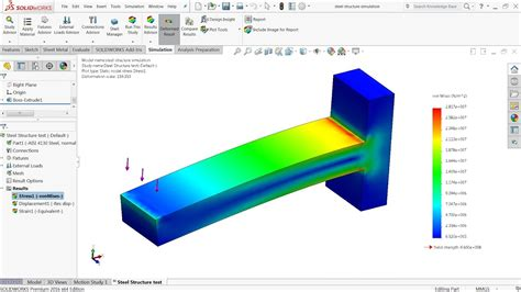 tutorial solidworks simulation solidworks simulation tutorial steel structure