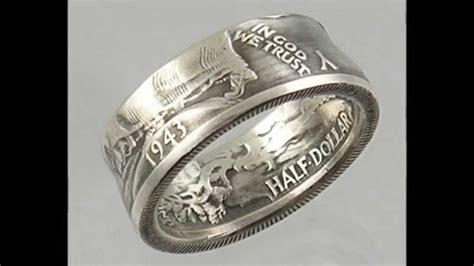 how to make silver coin rings silver rings