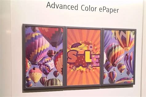 color e paper the future of signage electronic paper now supports