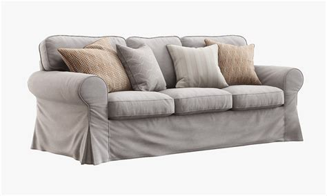 sectional model 3d ikea ektorp sofa model