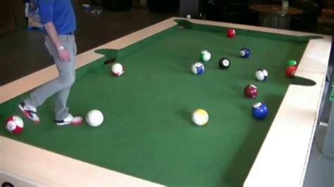 human pool table soccer player on pool table espn
