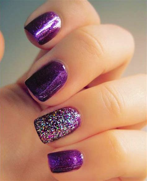 imagenes de uñas pintadas de un solo color 15 dise 241 os para lucir unas elegantes u 241 as color morado