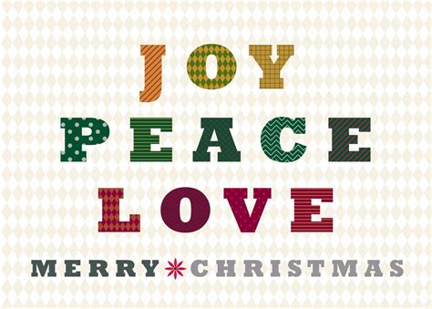patterned joy peace love christmas greeting cards  cardsdirect