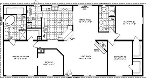 1800 square foot floor plans the tnr 46017w manufactured home floor plan jacobsen