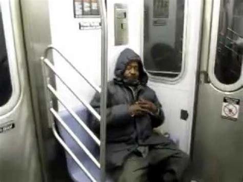 rat wakes  homeless man  nyc subway train youtube