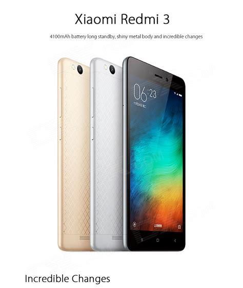driver xiaomi redmi 3 xiaomi redmi 3 android 5 1 4g 5 0 quot phone w 16gb rom
