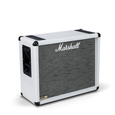 marshall mx212 2x12 guitar speaker marshall 1936 2x12 guitar speaker cab arctic white at