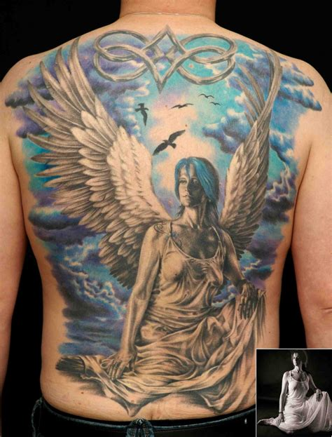 guardian angel tattoos for men pictures guardian sleeve tattoos for