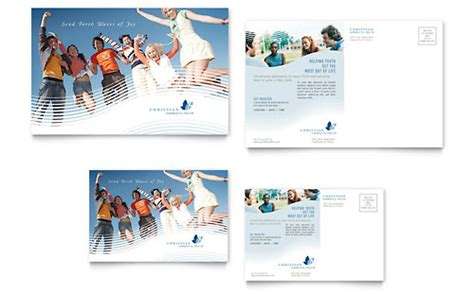 postcards church templates designs