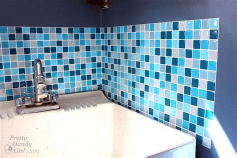 diy adhesive tiles that look like glass mosaic tiles