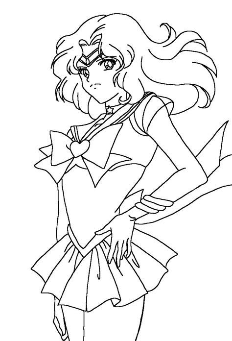 sailor neptune angry sailor moon coloring pages sailor