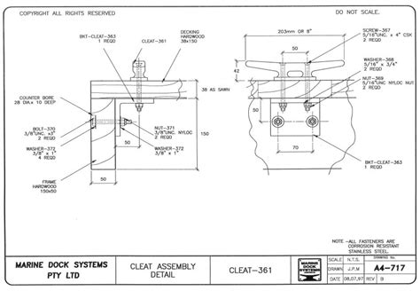 boat cleat drawing timber pontoons mds marine dock systems mds marinas