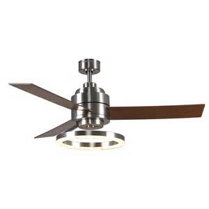 ceiling fan with led light and remote shop harbor pier 39 52 in brushed nickel downrod