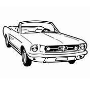 Coloriage Voiture Mustang A Imprimer Gratuit