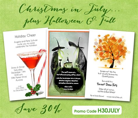 christmas in july 30 off sale plus halloween fall