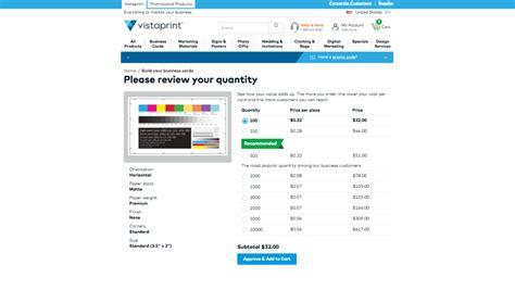 Vistaprint Business Card Prices