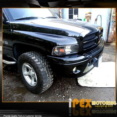 1994 2001 dodge ram 1500 for 1994 2001 dodge ram 1500 2500 3500 headlights w signals lights black ebay
