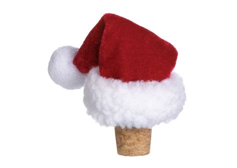 santa claus hat wine bottle stopper the green head