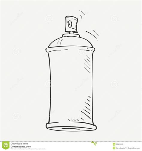 spray paint by sketch sketch spray can stock vector image 55522255