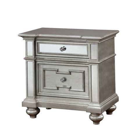 furniture of america mirrored dresser furniture of america farrah 2 drawer mirrored nightstand