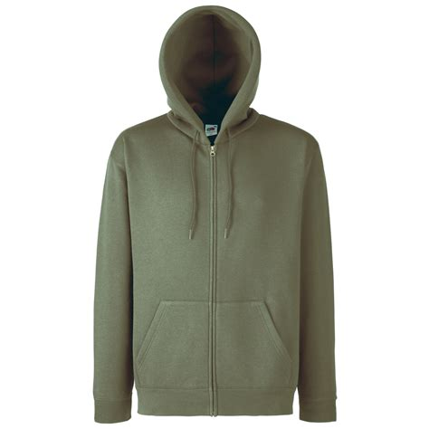Plain Zip Detail Zip Jacket fruit of the loom mens plain hooded zip sweatshirt