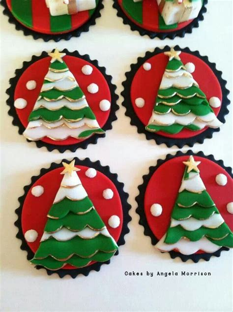 christmas tree cupcake toppers merry christmas pinterest