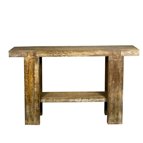 Rustic 10 Holes Reclaimed Wood Sofa Table Hall Console Wooden Sofa Table
