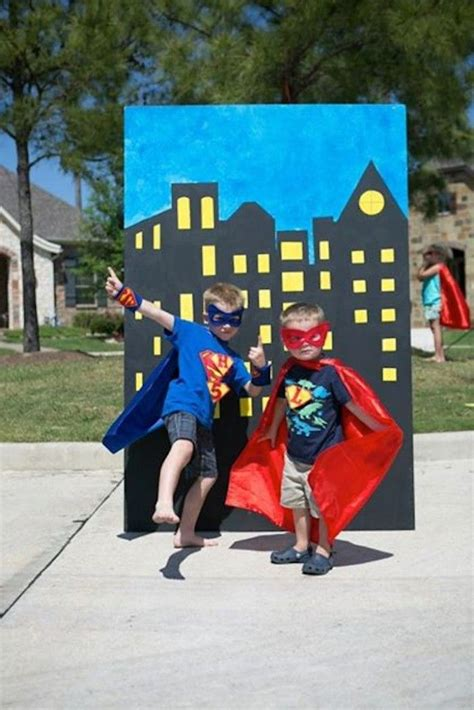 superhero themed games at snack station each night could create different