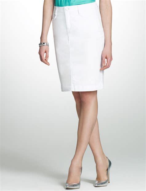 white denim skirt knee length dress