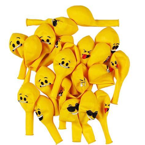 Balon Tiup Emoticon 100 Pcs 12 emoji balloons smiley expression yellow balloons wedding ballon